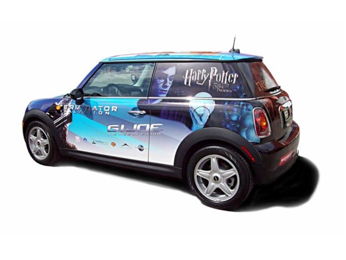Mini vinyle autocollant de voiture