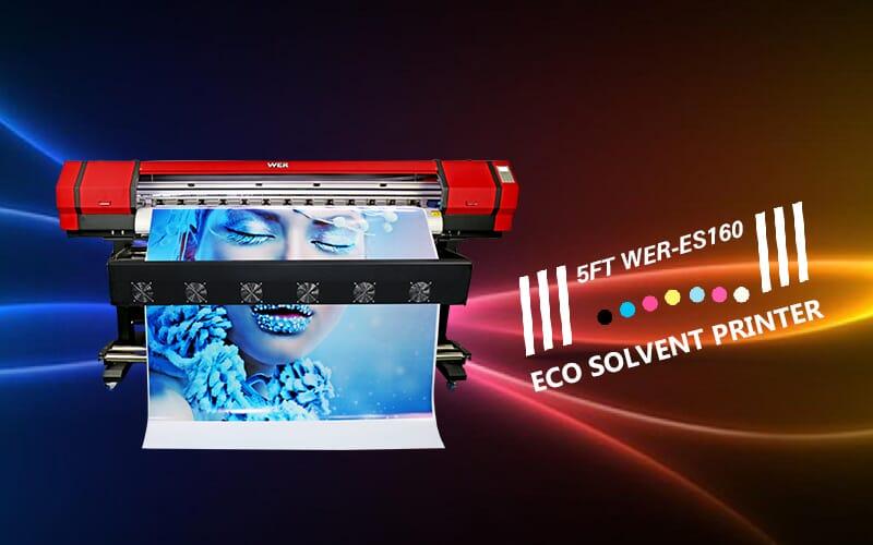 1 6m/5ft WER-ES160 Vinyl Printer Eco Solvent Printer | WER-CHINA