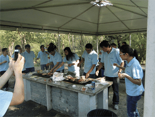 BBQ in Gucun Park, Autumn 2014