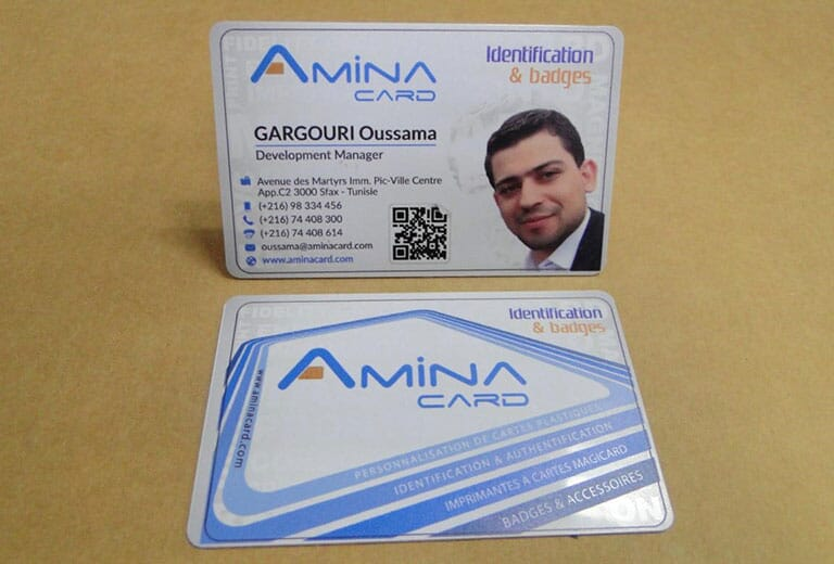 Business Name card prining sample from desktop uv printer -A2 size WER-D4880UV