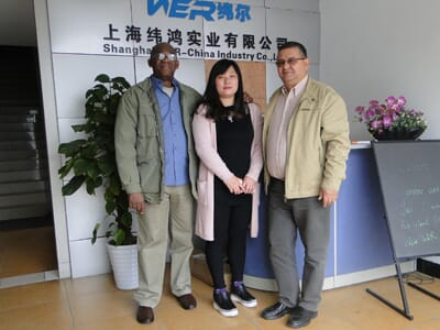 Guba Clients come to visit WER-CHINA to check 1.6m eco solvent printer on 6th,Nov.