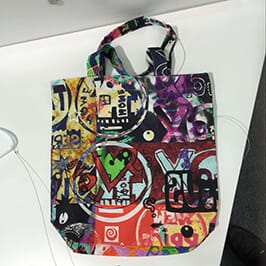Non-woven bag printing sample by A1 digital textile printer WER-EP6090T