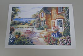 Oil Canvas 1 printed by 2.5m (8 feet) eco solvent printer WER-ES2501