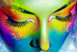 gros plan, couleur, femmes, figure, art