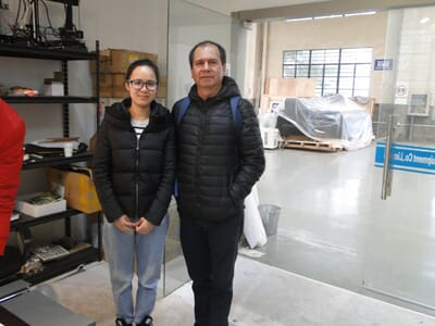 Mr. Hernan Rodriguez from Colombia visit WER-China for small uv flatbed printer