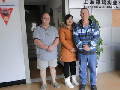 Regular customers from Austria come to visit WER-CHINA company again to talk about new order of large format uv printer on 6th.Dec.
