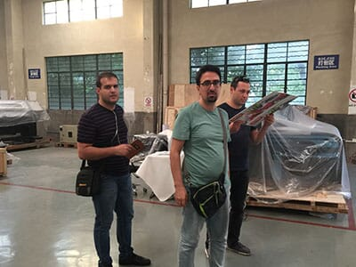 Three Iran customers checked WER printer factory