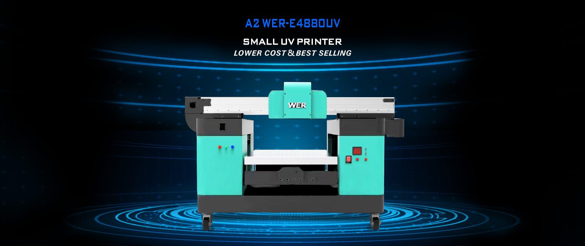 WER A2 WER-E4880UV Small UV Printer